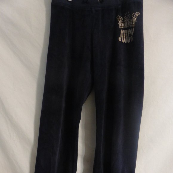 JUICY COUTURE navy blue velour exercise pants